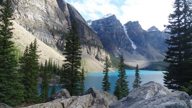 Der Lake Louise liegt in der kanadischen Provinz Alberta im Banff-Nationalpark.