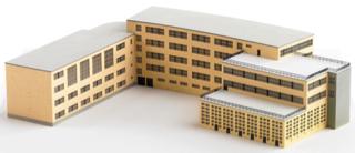 Modell des AvH- Schulgebäudes