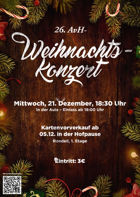 26. AvH-Weihnachtskonzert 2016