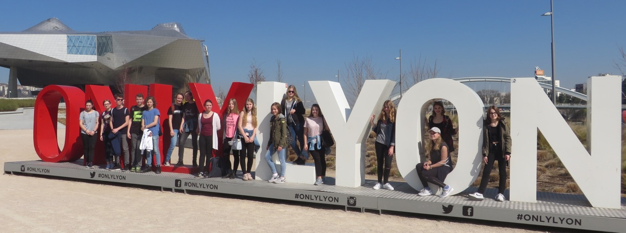 Die Teilnehmer des Schüleraustausches mit Lyon 2017