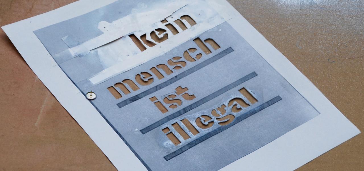 """""""Kein Mensch ist illegal"""" -Beitragsbild zum Artikel Projektwoche 2017"""
