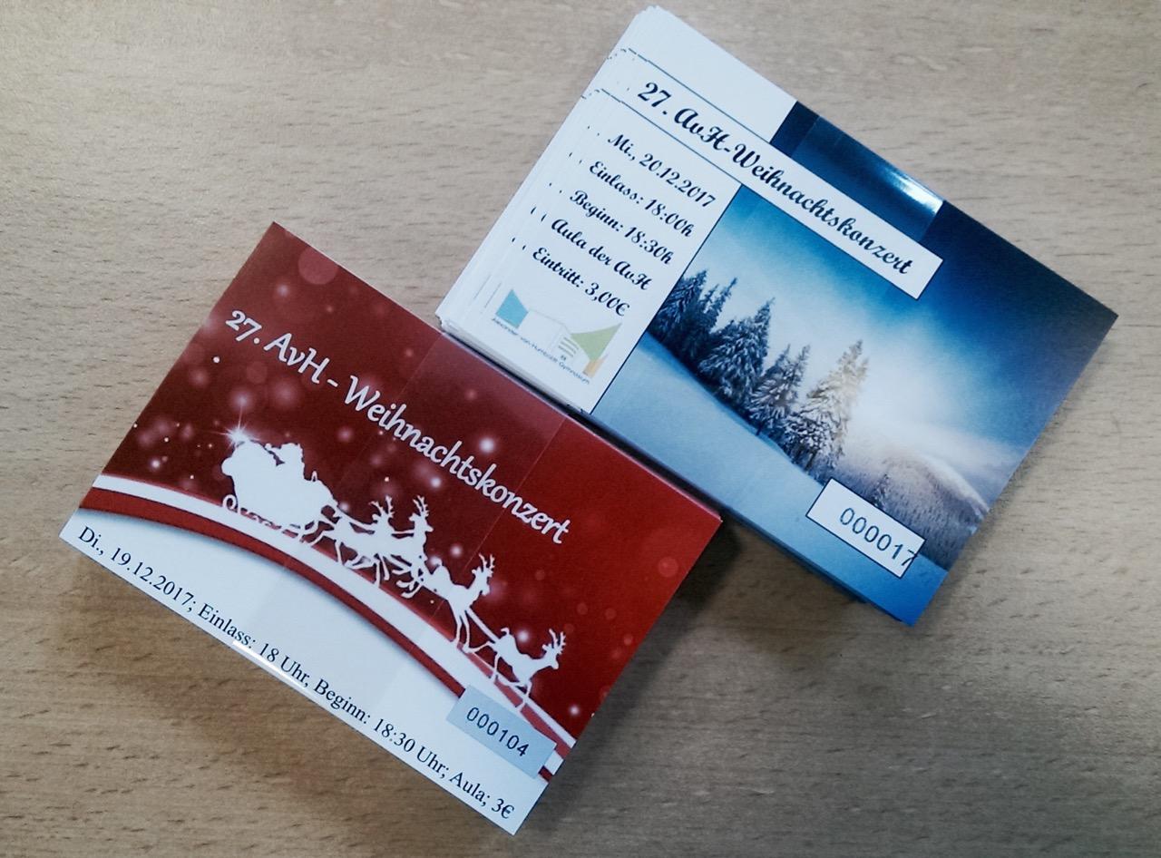 AvH-Weihnachtskonzert 2017 – Kartenvorverkauf hat begonnen