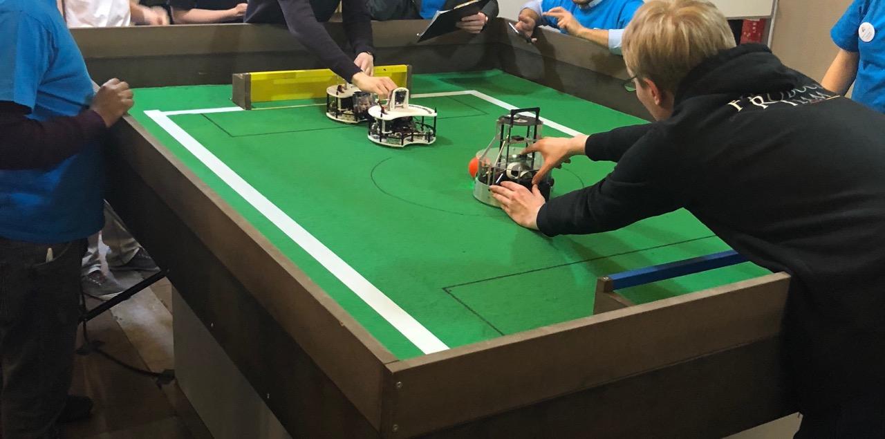 Bild von den Berliner Meisterschaften Robocup 2018