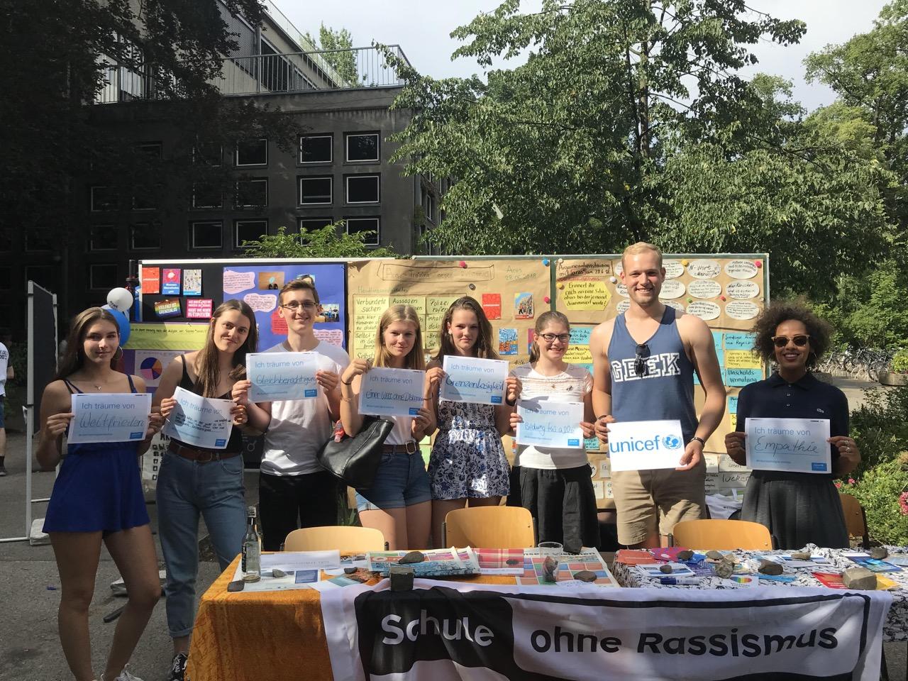 Courage Projekt trifft Unicef und Bezirksbürgermeister